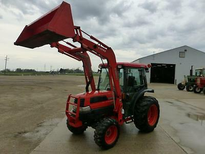 2005 Kubota L3430 Mfwd Compact Cab Tractor With Loader 1286 Hours Hydro