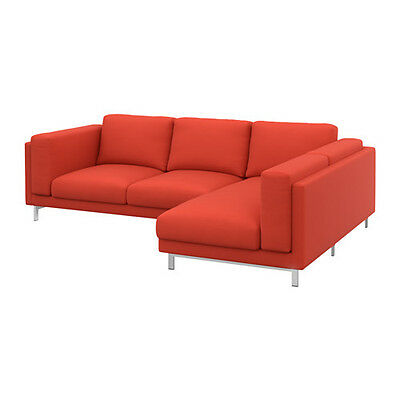 IKEA NOCKEBY - Slipcover for Loveseat With Right Chaise Risane Orange cover only
