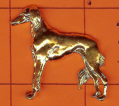 Saluki   -  Shaped   -   Gold  Pin  Nice :)