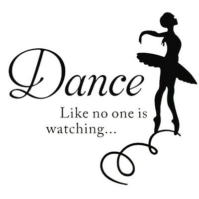 Removable Wall Sticker Decal Mural Room Home Decor Quote Words Dance DIY X2S7