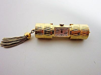 "Vintage BIRKS ""Sweety"" Pendant Sliding Tube Peek a Boo Watch Necklace RARE"