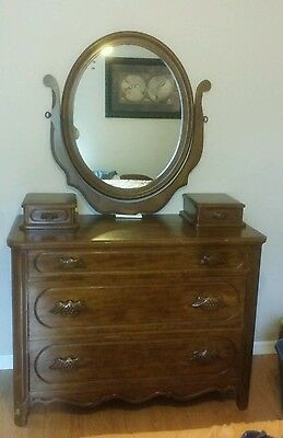 Vintage Lillian Russell Dresser Mirror Boxes