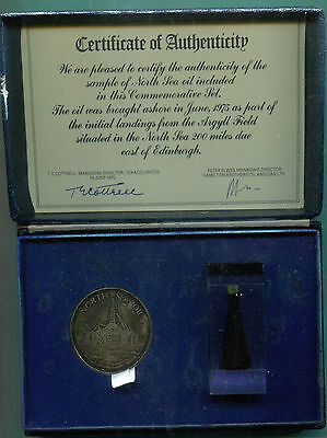 1975 North Sea Oil Commemorative Medal Set - Limited Edition
