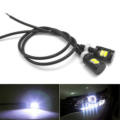 2pc White LED SMD Motorcycle&Car License Plate Screw Bolt Light lamp bulb 12V TO