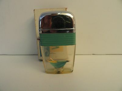 Vintage Scripto VU Lighter Fishing Hook with Light Green Band in Box