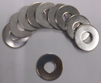 """Flat Washer 3/8 x 1"""" OD Stainless Steel 18-8-SS 304 Pack of 50"""