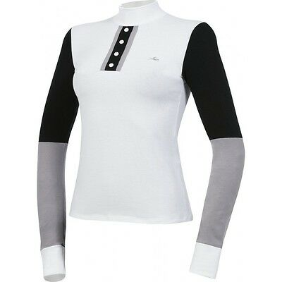 Equi Theme 2 Tone Ladies High Neck Long Sleeve Competition Show Shirt 98787102
