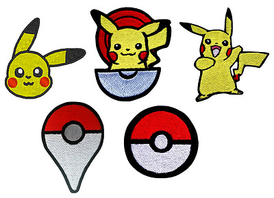 Pokemon Go Games Embroidery Iron On Patch Cap Badge Jeans Applique Pikachu Movie