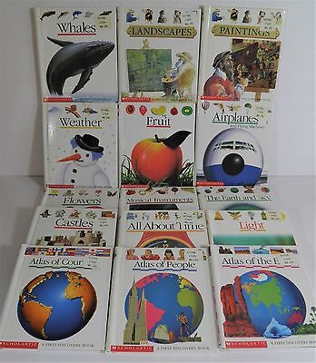 Lot Of 15 First Discovery Hc Books Scholastic Science Art Weather Atlas Castles