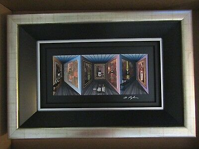 """DOMINIC PANGBORN """"FINE WINE-ART IN MOTION"""" 3-D GICLEE ON CANVAS  Hand Signed"""