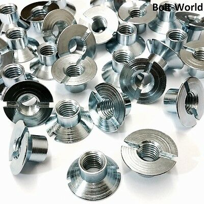 Slotted Countersunk Nuts Free Cutting Steel Bright Zinc Plated M3 M5 M6 M8 M10