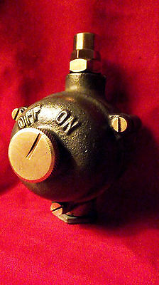 """Vintage Industrial Light Switch """"Walsall"""" Rotary Galvanized Cast Iron"""