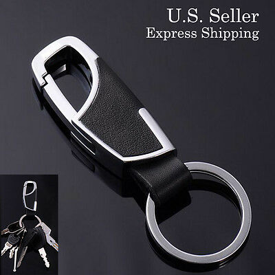 Sookoo Leather Car Key Chain Key Ring Gift For Business Men Metal Key Chain