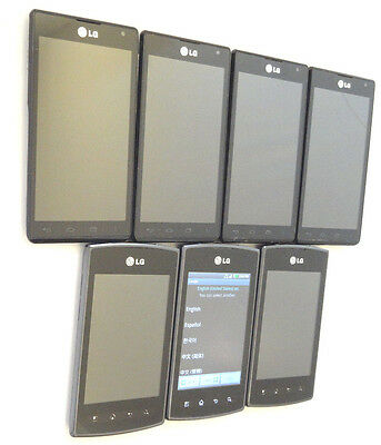 Lot of 7 LG Optimus F5 & Optimus Plus Smartphones Most Power On AS-IS