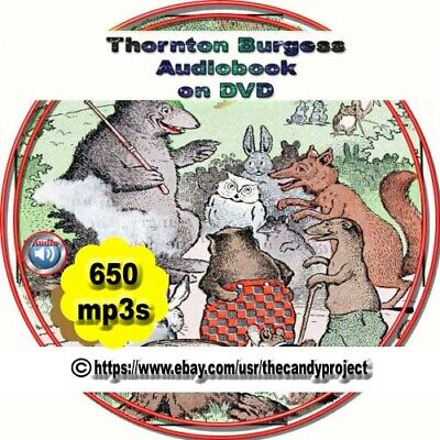 650 Mp3s Thornton W Burgess Collection Mr Toad Bobby Coon Buster Audiobooks DVD