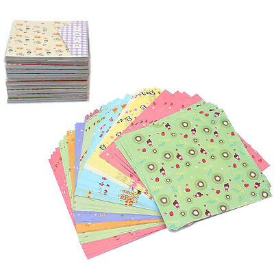 72PCS Square Flower Pattern Origami Paper Folded Papers Scrapbooking DIY Craft
