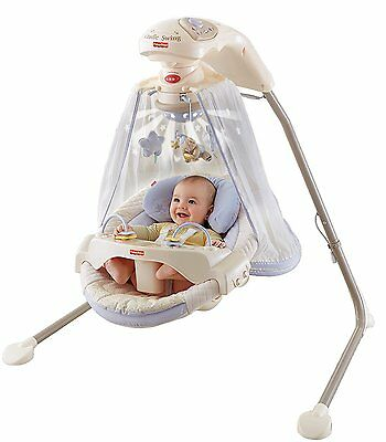 Baby Swing Starlight Cradle Fisher Price Papasan Infant Seat Songs Mobile NEW