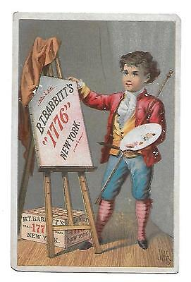 B T Babbitts 1776 New York Soap Painter Palette  Victorian   Trade Card
