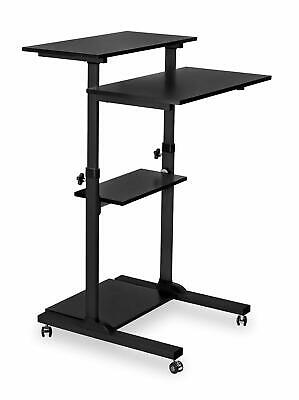Mount-It! Mobile Computer Laptop Stand Up Desk Height Adjustable Rolling Cart