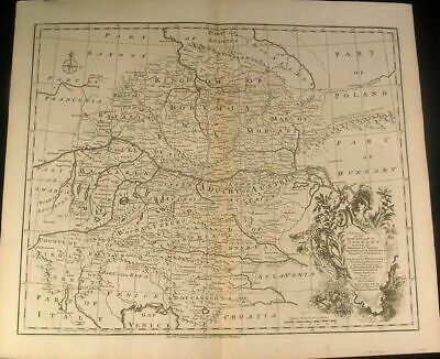 Southeast Germany Bohemia Bavaria Austria 1750 Bowen fine antique map