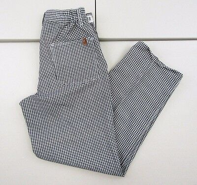 NWT Chef Designs Hounds Tooth Men's Side Elastic Waist Pants Sz 32X32 A517