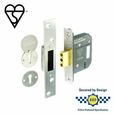 Securit 5 Lever Dead Lock 63mm Nickel Plated - S1784