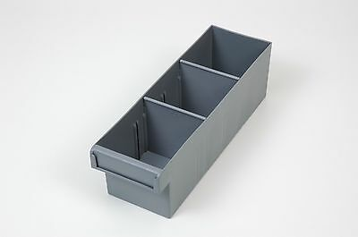 Fischer Plastic Spare Parts Trays 100x100x300 with 2 removable dividers