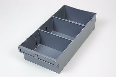 Fischer Plastic Spare Parts Trays 200x100x400 with 2 removable dividers