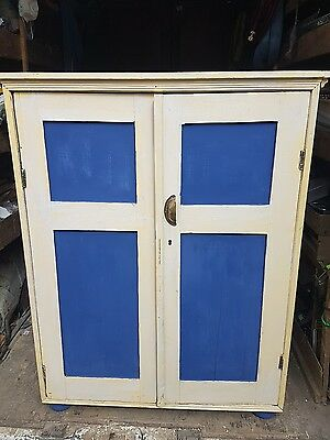 Victorian pine cupboard cabinet sideboard vintage cupboard   upcycle painted