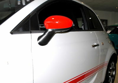 Fiat 500 Grande Punto Sport Red Mirror Caps Covers New and Genuine 71807485