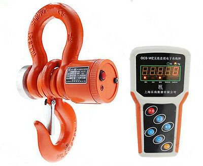 ECO 5T Digital Electronic Hanging Crane Scale W/ Wireless Handheld Meter 5000KG
