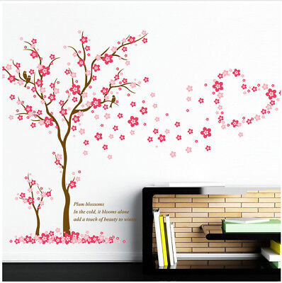 wandtattoo wohnzimmer schlafzimmer blume pink rosa sticker. Black Bedroom Furniture Sets. Home Design Ideas