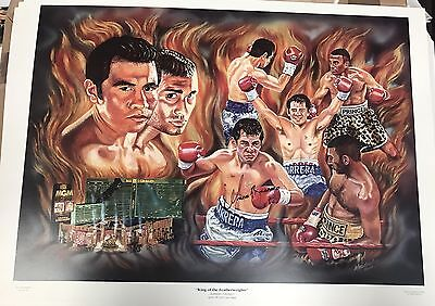 Signed Marco Antonio Barrera v Prince Naseem Hamed Poster/Print/Photo 20x14