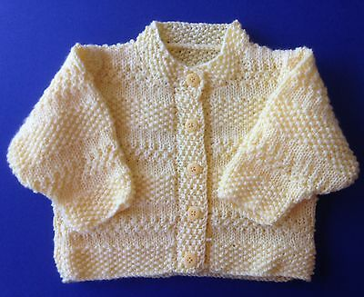 New hand knitted Child's Jacket. Yellow. Size 2. Save post on 2 items