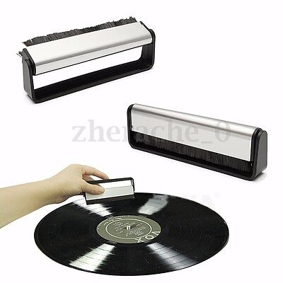 AU Anti-Static Professional Vinyl Record Cleaning Brush Cleaner Pad Audio Stylus