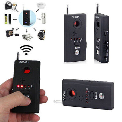 Anti-Spy RF Signal Bug Detector Hidden Camera Laser Lens GSM Finder CC308