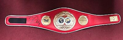 Floyd Mayweather Jr Signed IBF World Champion Boxing Belt in a Case TBE TMT COA