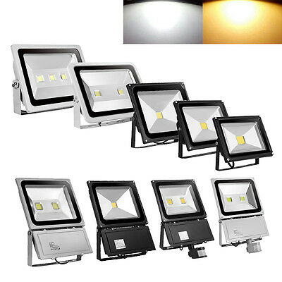 10W 20W 30W 50W 100W 150W 300W LED Flood Light PIR Motion Sensor Warm Cool WhIte