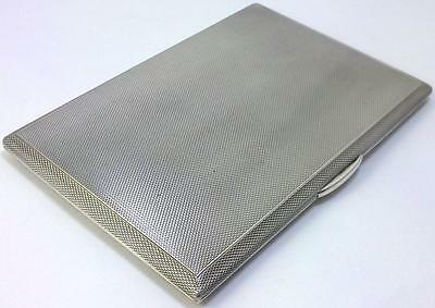 Vintage hallmarked Sterling Silver Cigarette/Card Case or Wallet – 1952  (204g)