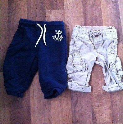 Lot Of 2 Baby Boys Gap Pants Khaki & Navy Sweats Size 12m To 18m