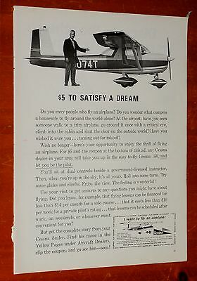 1965 Cessna 150 Small Plane For Wanting To Fly Vintage Ad / Retro 60S Aviation
