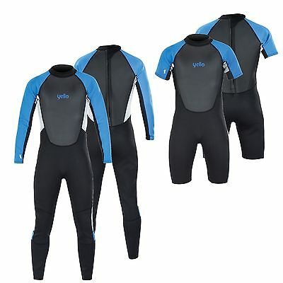 Yello 2Mm Wetsuit Mens Blacktip Adult Full Length Or Shorty Neoprene Wet Suit