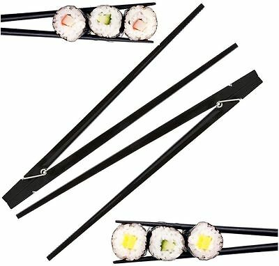 Clothespin chopsticks Black For Beginners 9 Inches 2 pieces