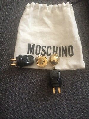 Orecchini/Earrings MOSCHINO COUTURE! ORIGINALI VINTAGE RARI anni 80 clip OTTIMI