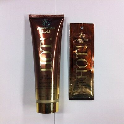 Australian Gold Hot! with Bronzers Sunbed Tanning Lotion Cream Bottle or Sachet