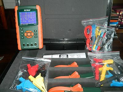 Extech PQ3450 A 3-Phase Power Analyzer Kit W/ SET OF 3 PQ34-12 PROBES! MINT!!!!!