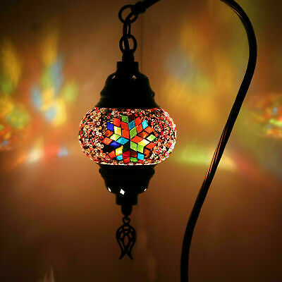 Multicolour Turkish Moroccan Style Mosaic Table Lamp Lampshade Small Globe Shade