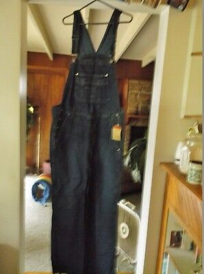 New Dark Blue Jeans, Size M Medium, 100% Cotton Denim Bib Overalls, 34 X 32 Tags
