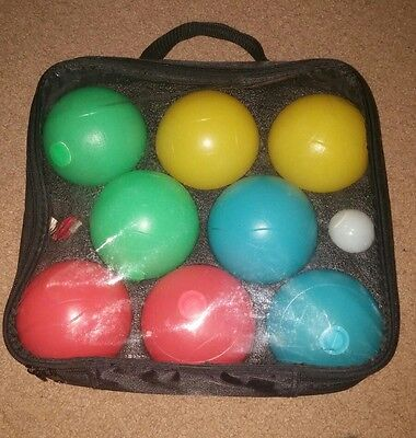 "Bocce Ball Set Lighted 13"" Case Beach Lawn Sport Game Full Strategy Outdoor New"