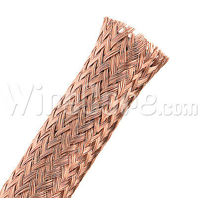"MBC0.38CP - Bare Copper Tube Braid 3/8"" - 10 Ft Cuts"